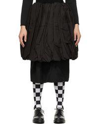 Comme des Garçons レイヤード スカート - ブラック