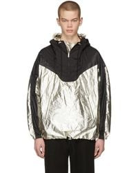Isabel Marant - Black And Silver Richie Hooded Jacket - Lyst