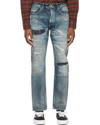 Neighborhood Indigo Scratch Savage Narrow/c-pt Jeans - Blue