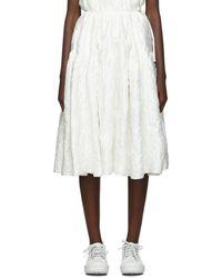 Cecile Bahnsen White Tina Skirt