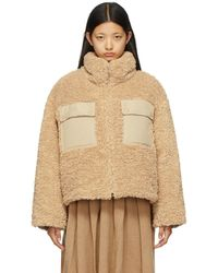 SJYP Down Sherpa Contrast Jacket - Natural