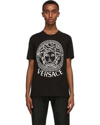 Versace - Ssense 限定 ブラック & ホワイト Medusa T シャツ - Lyst