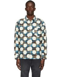 AWAKE NY Blue Flannel Polka Dot Shirt