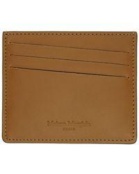 Maison Margiela Porte-cartes brun Bicolor Classic - Multicolore