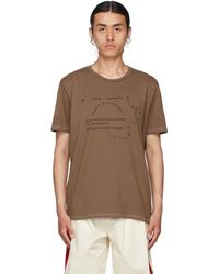 Bless T-shirt Multicollection II brun No69 Lost In Contemplation - Marron
