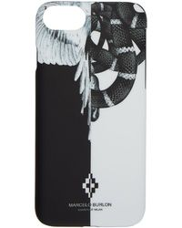 Marcelo Burlon - Black And White Snake Wing Iphone 8 Case - Lyst