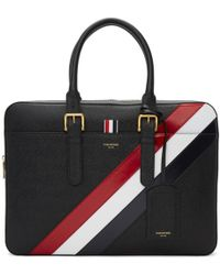 Thom Browne - Diagonal Stripe Business Briefcase Tote Bag - Lyst