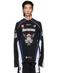 Balenciaga ブラック Hockey ロング スリーブ T シャツ