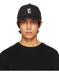 WOOYOUNGMI ブラック & ホワイト ロゴ キャップ