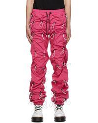 99% Is Pantalon de survêtement rose et blanc Gobchang