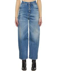 MM6 by Maison Martin Margiela Blue Carrot Jeans