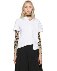 Junya Watanabe - White Cotton Twist T-shirt - Lyst