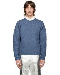 Gucci - ブルー ウール GG セーター - Lyst