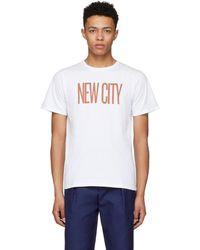Saturdays NYC - White New City T-shirt - Lyst