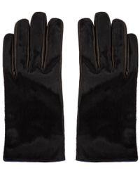 Paul Smith - Black Calf Hair Gloves - Lyst