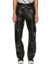Noon Goons Black Series Leather Trousers