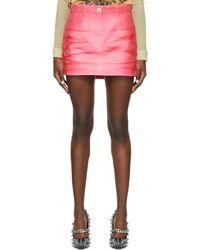 Givenchy ピンク デニム ミニスカート