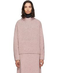 JOSEPH Pink Tweed Knit Jumper