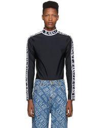 Versace Jeans Couture ブラック テクノ Tribute タートルネック