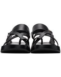 Saint Laurent Black Noah Sandals