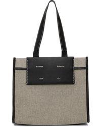 Proenza Schouler White Label コレクション ブラック & ホワイト ラージ Morris トート