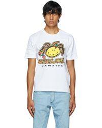 Bianca Saunders T-shirt Tourist Jamaica blanc ruché