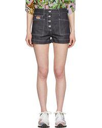 KENZO - Navy Denim Shorts - Lyst