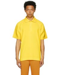 Homme Plissé Issey Miyake Yellow Monthly Colour May Polo