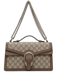 Gucci Beige GG Supreme Dionysus Top Handle Bag - Natural