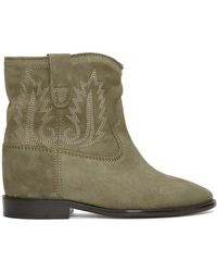 Isabel Marant Crisi Ankle Boots - Green