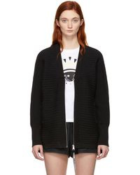 KENZO - Black And Blue Jacquard Sport Zip-up Jumper - Lyst