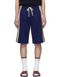 Gucci Blue Ribbon Logo Shorts