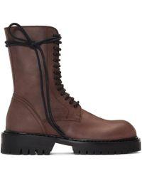 Ann Demeulemeester - Brown Texas Lux Boots - Lyst