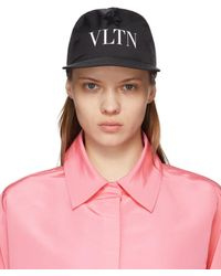 Valentino Garavani Black 'vltn' Star Baseball Cap - Pink