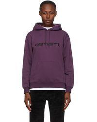 Carhartt WIP - パープル ロゴ フーディ - Lyst