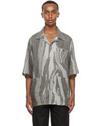 Nicholas Daley Grey Aloha Short Sleeve Shirt