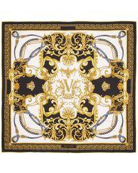 Versace - ブラック シルク Barocco スカーフ - Lyst