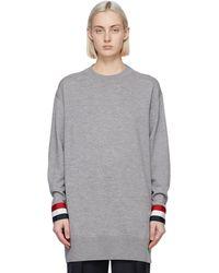Thom Browne - グレー オーバーサイズ セーター - Lyst