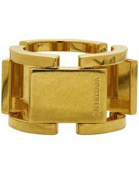 Balenciaga Gold Flat Ring - Metallic