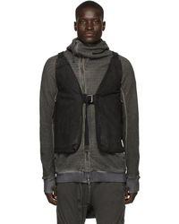 Boris Bidjan Saberi Black Deconstructed Vest