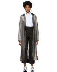 Won Hundred - Grey Transparent Hooded Raincoat - Lyst