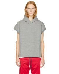 Fear Of God - Grey Muscle Hoodie - Lyst