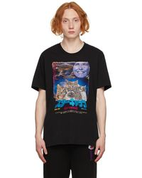 Doublet ブラック Retro Poster Embroidery T シャツ