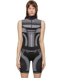 MISBHV Black Sport Active Zip Bodysuit