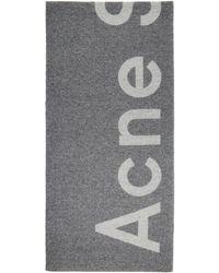 Acne Studios - Grey Toronty Logo Scarf - Lyst