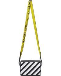 Off-White c/o Virgil Abloh Black Diag Mini Flap Bag