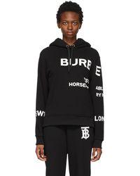 Burberry - ブラック オーバーサイズ Horseferry フーディ - Lyst