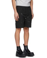 HELIOT EMIL Black Track Shorts