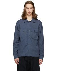 Naked & Famous Indigo Chambray Railroad Work Shirt - Blue