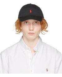 Polo Ralph Lauren コットンベースボールキャップ - ブラック